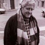 Hugo Pratt (en 1989) photographié par Erling Mandelmann